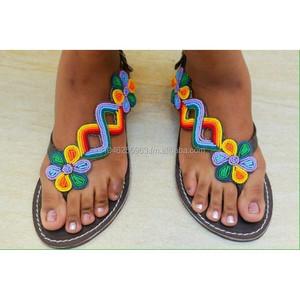Beaded Gladiator Sandals