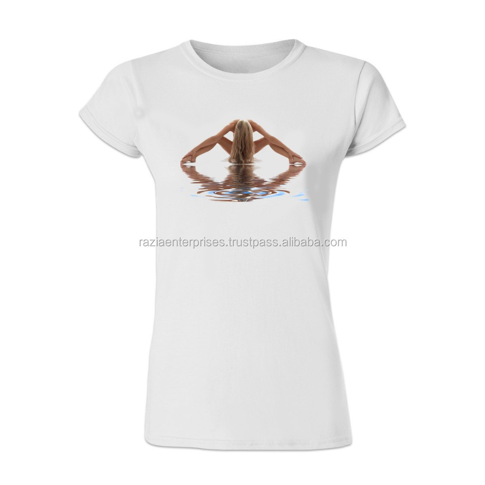 women hot printing t shirt custom printing yoga t-shirt manufacturer plus size design your own wholesale t-shirts