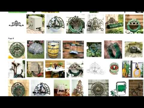 best coil garden hose holder reels from decorative wall mount to cart or outdoor storage hanger