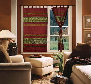 Window Curtains Design For Living Room Silk Jacquard Work Indian Style Curtain And Colors Clic Royal