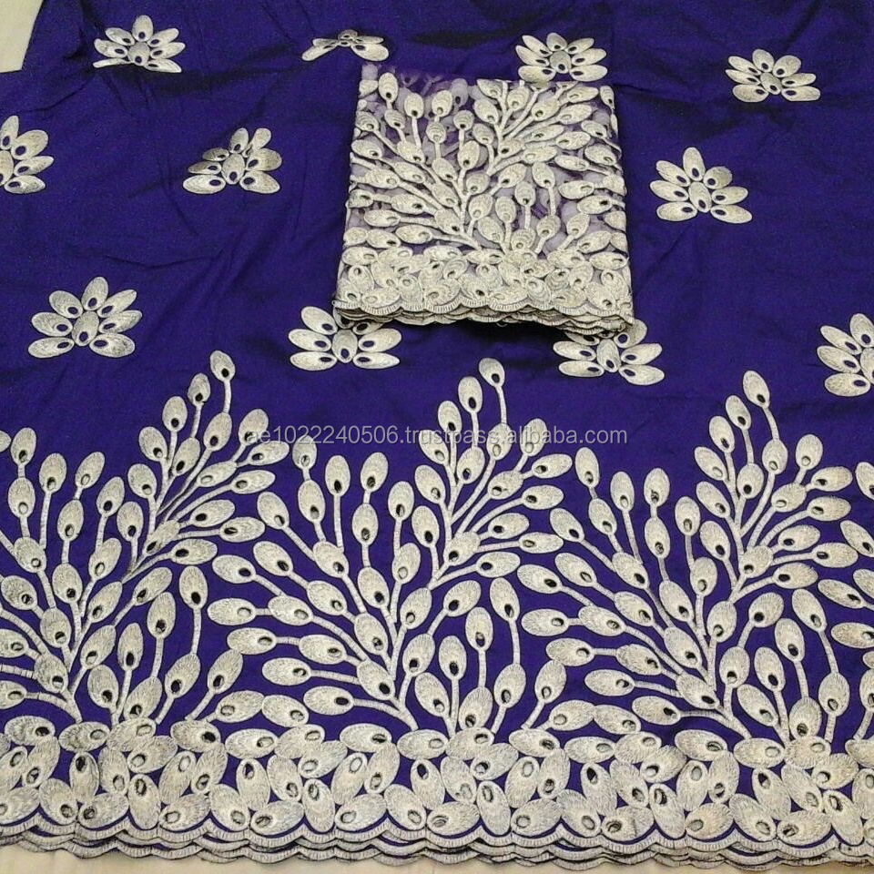 Top fashion indian dress laces swaali african george wrapper GL10045 royal blue