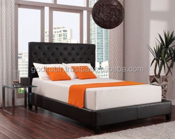 8 inch memory foam mattress with high quality fabric bedgreat look soild wooden bed
