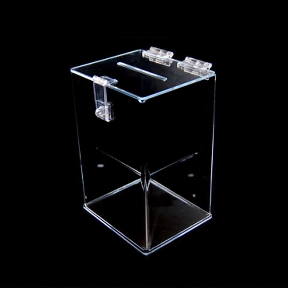 acrylic donation box with lock buy acrylic donation box transparent donation box display box. Black Bedroom Furniture Sets. Home Design Ideas