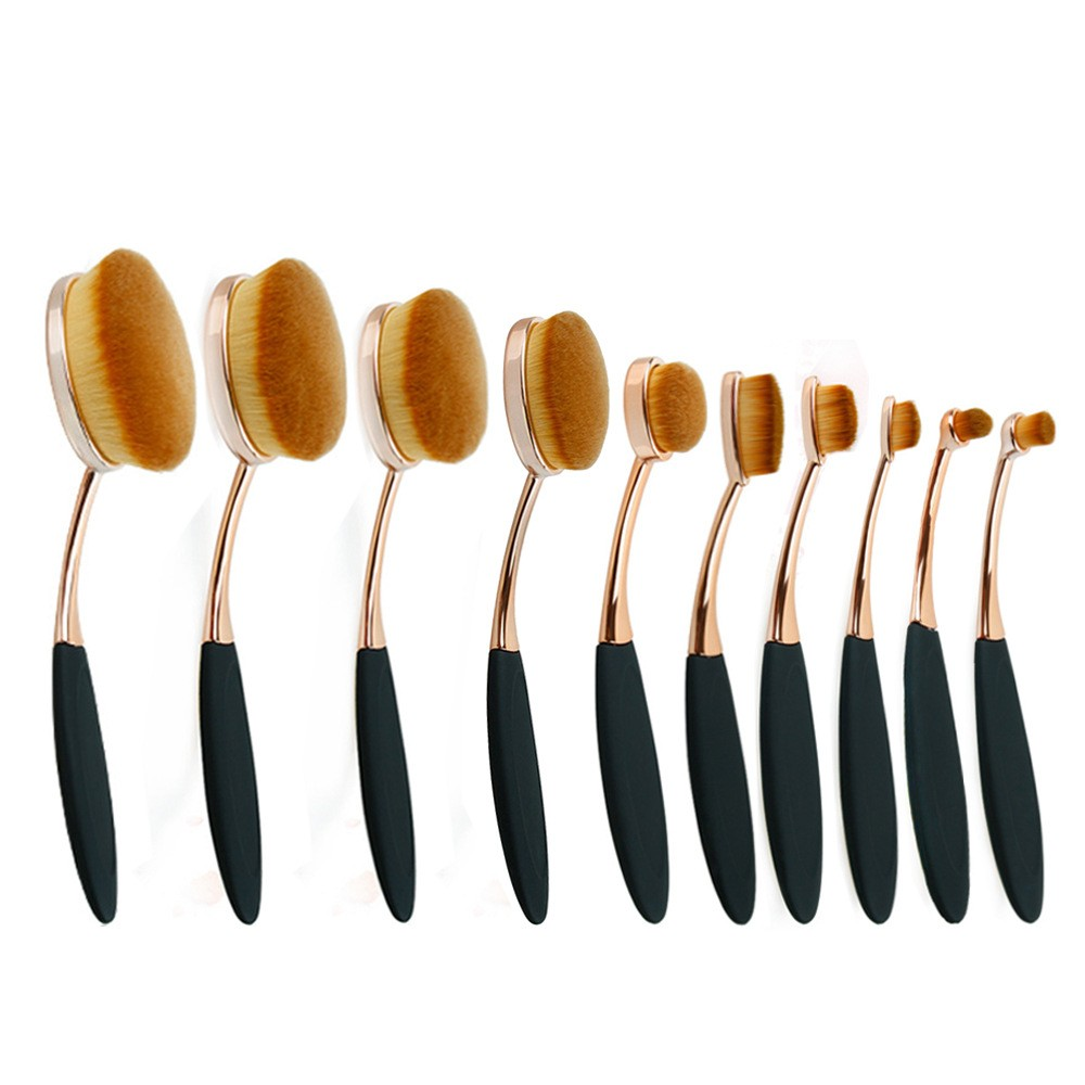 Toothbrush Shaped Foundation Brushes Beauty Oval BB Cream Cosmetic Brush in Makeup Tools opp packing 10sets=100pcs/Lot DHL
