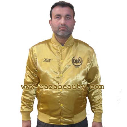 Custom Gold Varsity Jackets / Satin Gold Baseball Jackets / Gold ...
