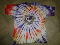 om with tie dye printed t-shirts