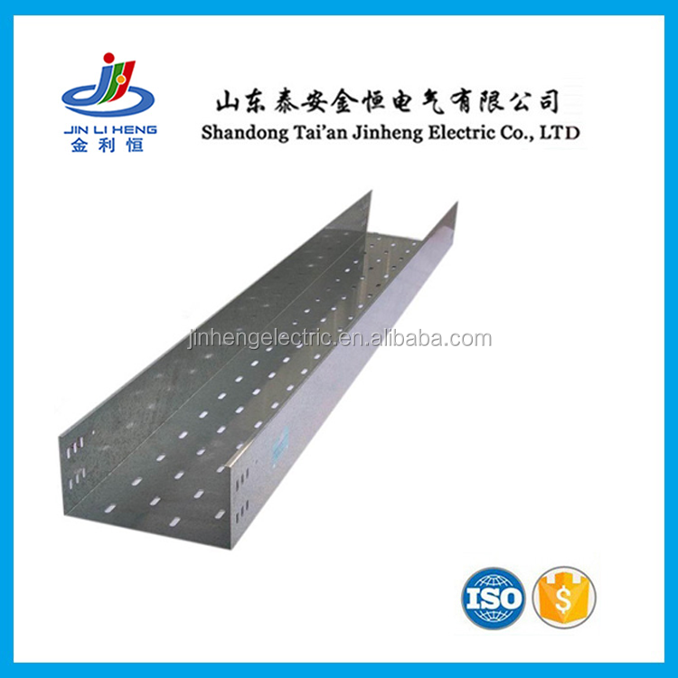 Outdoor GI Galvanized Steel Stainless Steel Standard Size Pre-galvanized Cable Trunking with Cover