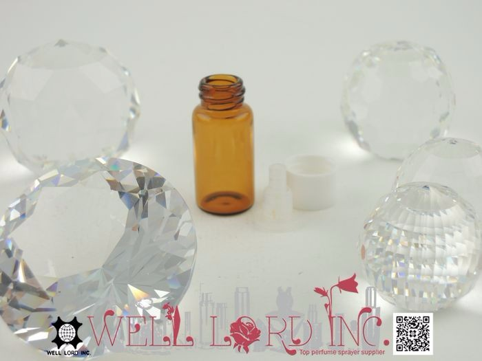 Easy carry screw on cap amber titration plug 3ml oil bottle