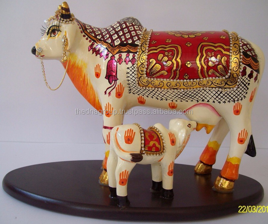 Unique Hand Painted Kamdhenu Cow for Promotional Gift & bussiness gift