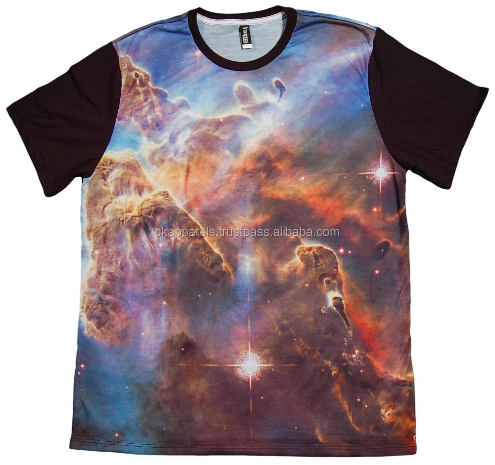 Dye Sub Galaxy Printed T Shirts Buy Custom Sublimation Galaxy