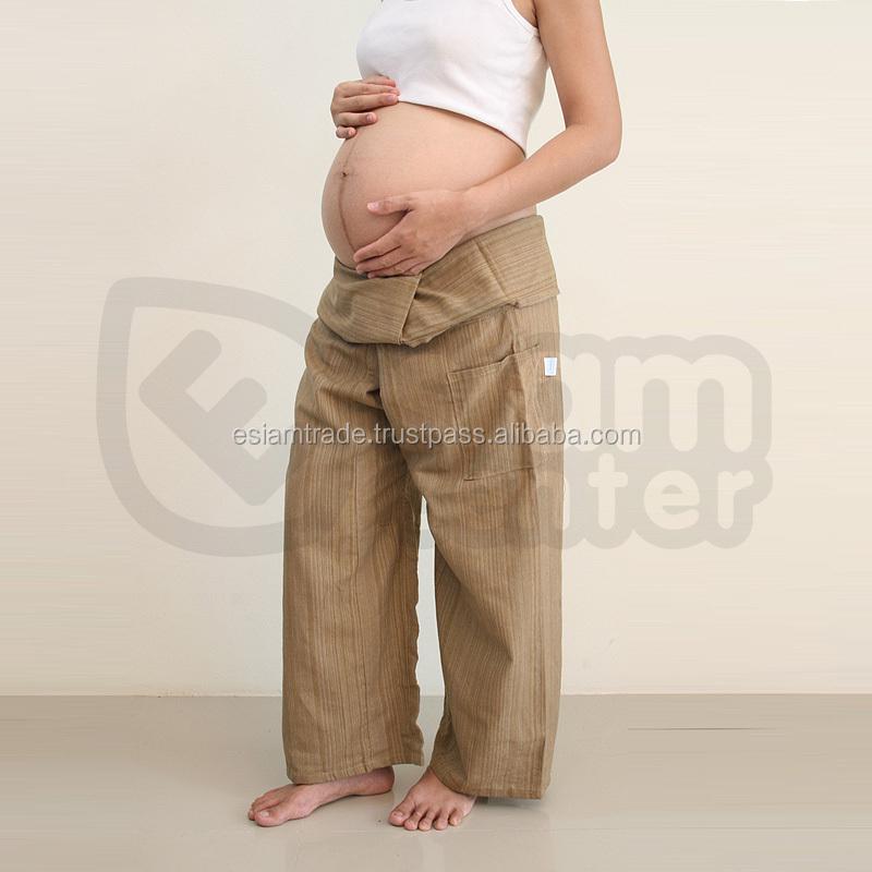 1c23dd422 Embarazo ropa mejor largo pierna ancha barato hippie Bohemia al por mayor  pantalones de maternidad