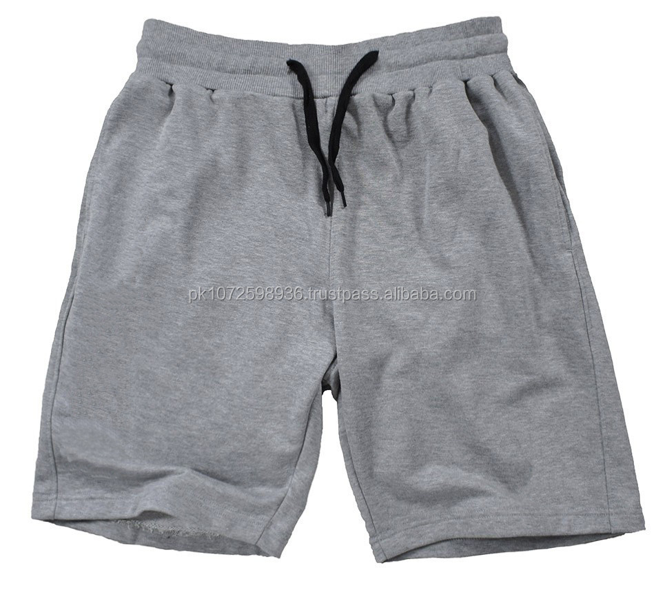 2015 Custom Cotton Fleece Gym Fitness Shorts/Mens Plain Bodybuilding Gym Shorts
