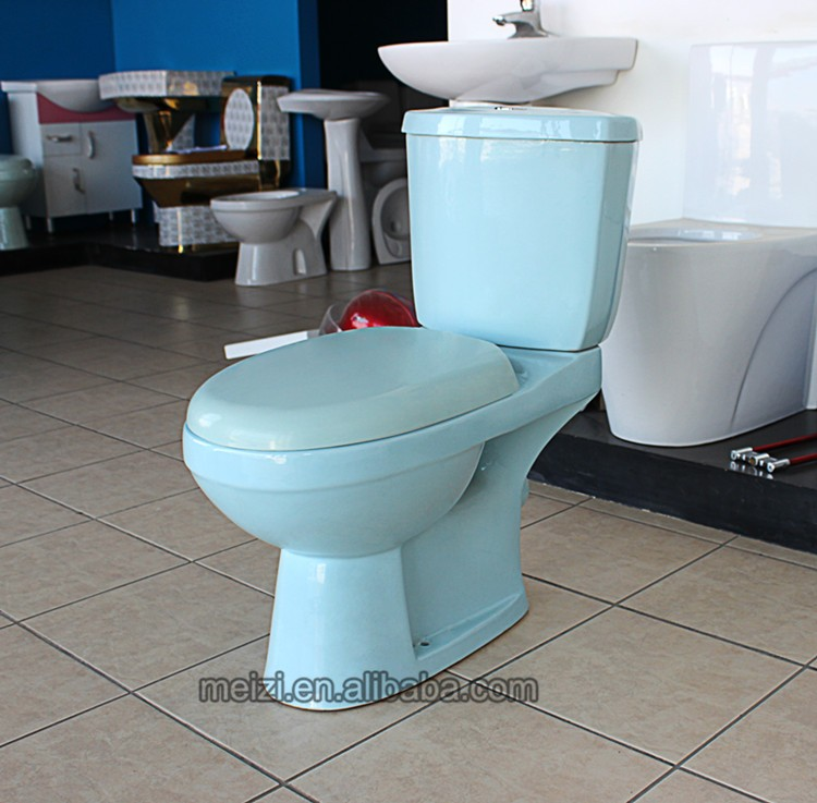Ceramic Two Piece Blue Toilet Bowl Color - Buy Toilet Bowl Color