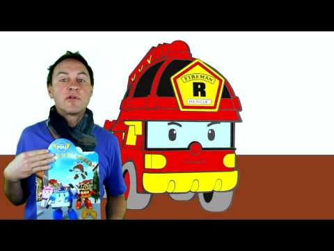 Robocar Poli: Learn to Paint Toy Car Collection Demo. English Colors-4  ?? ??? ) ABC 123