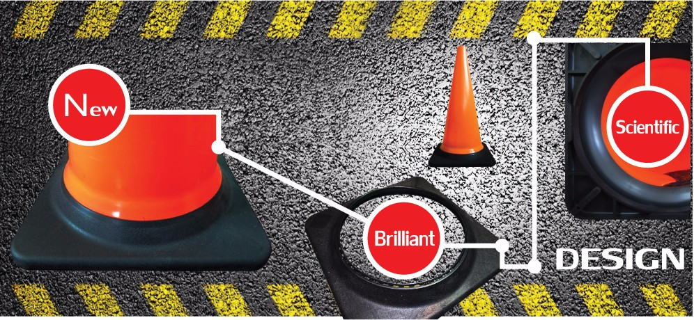 Construction Parts Road Safety Signs Black Base Used Traffic Cones ...