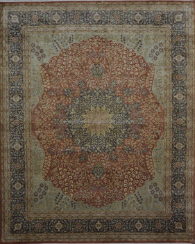 Hand Knotted 100 Pure Real Silk Persian Design 8x10 Area