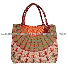 Women Mandala Handbag Hobo Bucket Bag Drawstring Shoulder Bag Travel Purse Totes