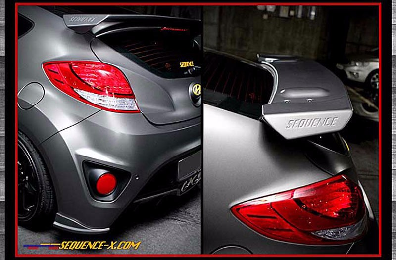 sequence veloster turbo devil 39 s tuning rear spoiler. Black Bedroom Furniture Sets. Home Design Ideas