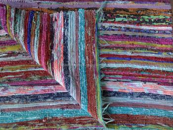 Hand Loom Indian Dhurrie Rugs Carpets Handmade Living Room Carpet Chindi Vintage Rag Rug