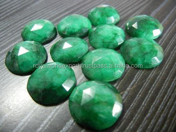 Dyed Emerald Rose Cut/process Gemstone/color Gemstone/wholesale ...