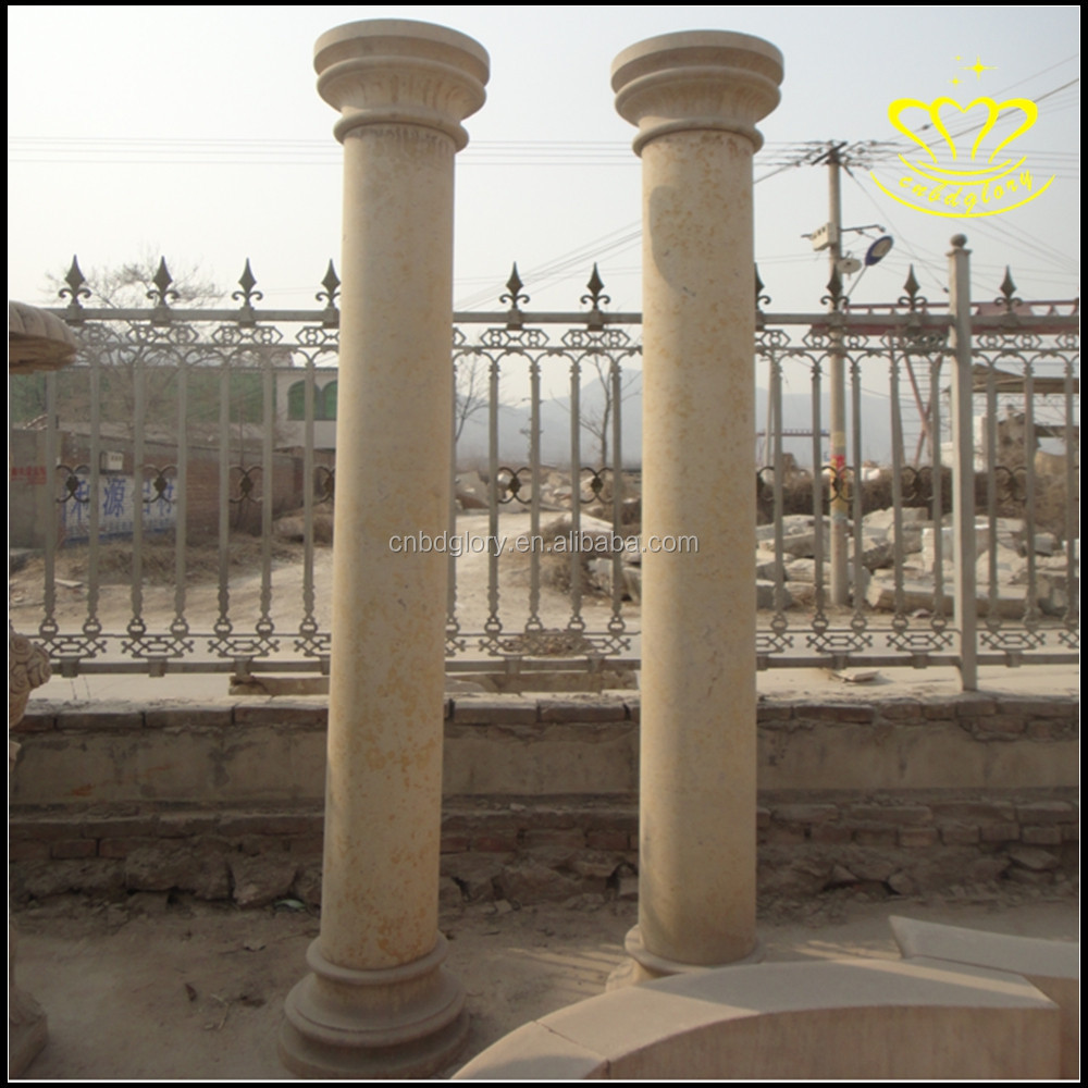 European Style Columns : European style granite column rome stone villa door