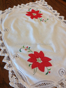 Latest Christmas Doily,Small Table Runner,Embroidered` Design And ...