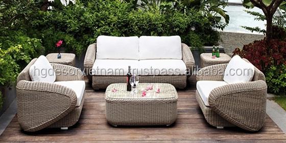New Design 2016 Poly Rattan Sofa High