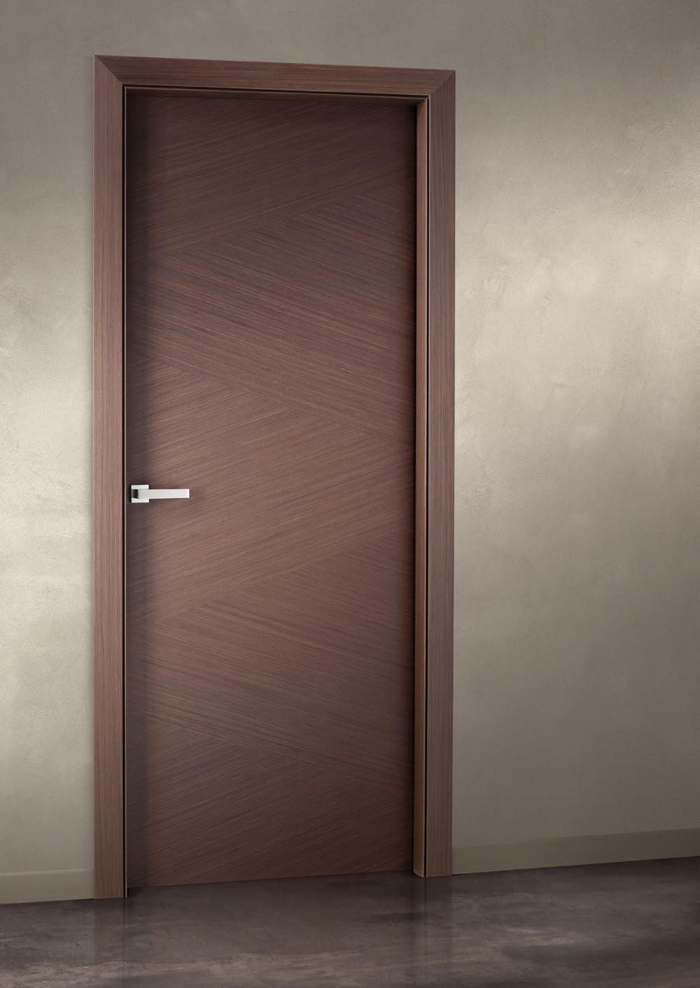 Natural Veneered Wooden Flush Door Design Mdf Living Room: Veneered Bedroom Flush Type Latest Wooden Doors Design