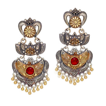 2a2402e1e Jaipur Mart Wholesale Oxidised Gold & Silver Plated Jewelry Indian  Traditional Design Jhumka Earrings for Fashion