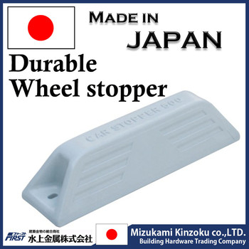 Wheel stopper made in Japan with excellent withstand load used at the parking lot to stop car wheels