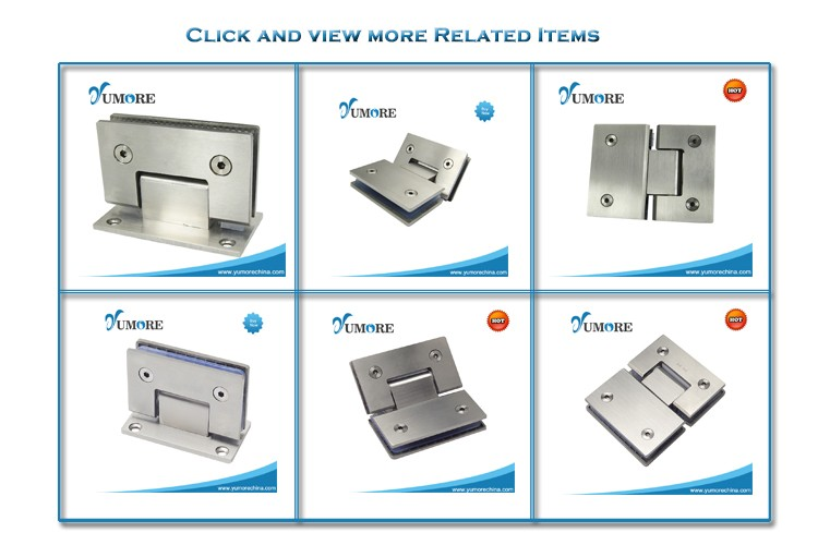 Frameless display glass cabinet door hinges