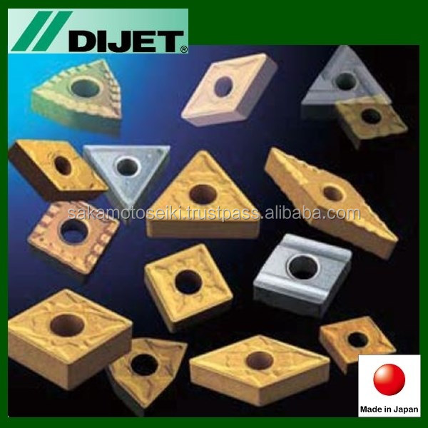 Durable DIJET turning inserts TNMG220408-PG JC450V Triangular with Highly-efficient made in Japan
