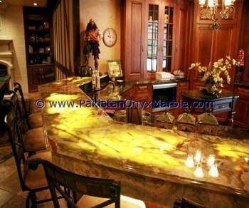 Backlit Onyx Kitchen Countertops