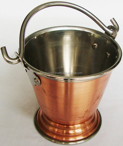 Stainless Steel With Copper Plating Balti Serving Dish