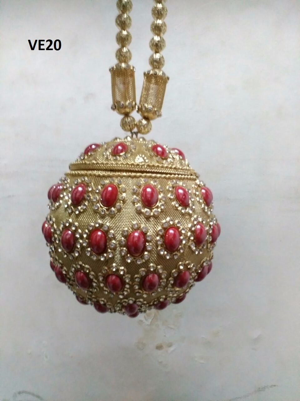 0f4e83f8387e VE08 crystal minaudiere rhinestone metal designer handbag in golden or silver  colour