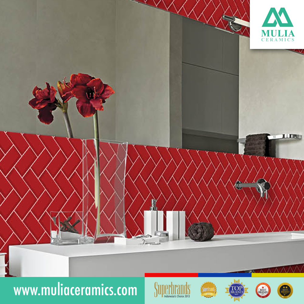 Metro Subway 10x30 Cm Red Color Best Product From Indonesia Glossy