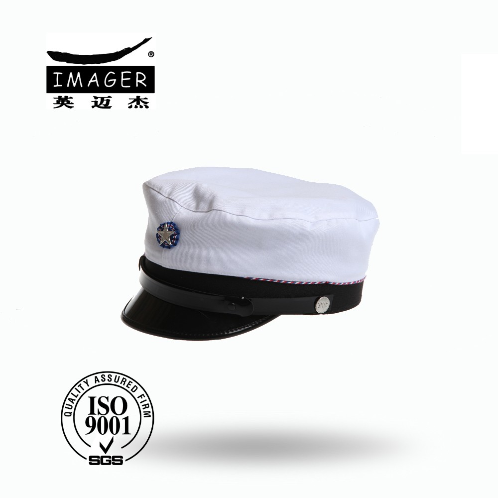 Customized white wool stduent cap hat with good quality