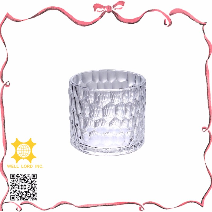 Fantastic design durable simple radial clear glass candle holder
