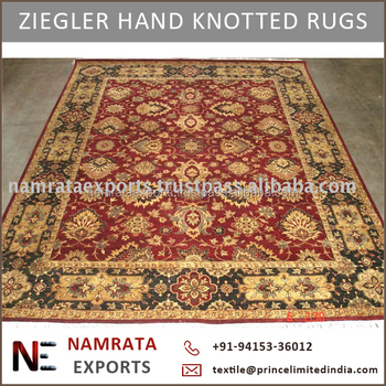 Hand Knotted Modern Design Ziegler Wool Rug From Indian Wholesale