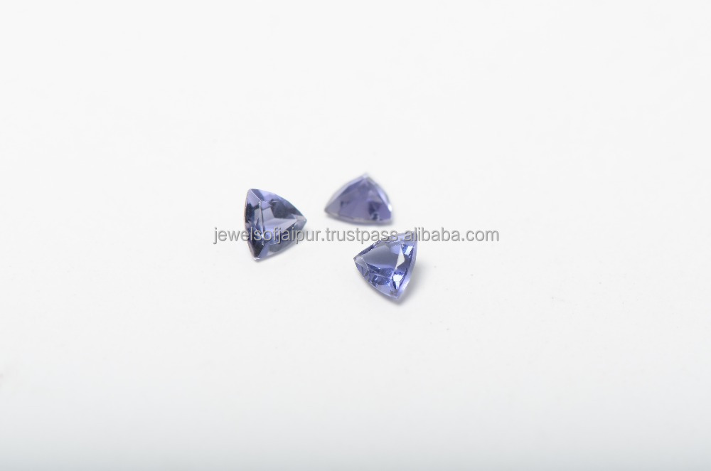 Natural Iolite Trillion Faceted Cut Calibrated Size 4mm to 8mm Blue Color Loose Gemstone