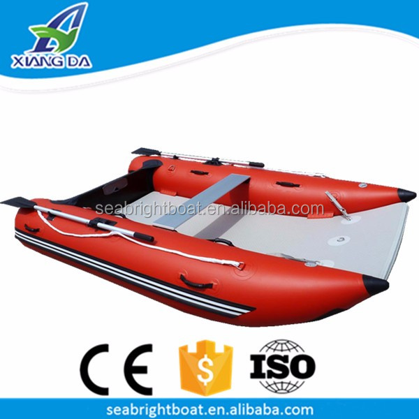 9ft Pvc Hull Material Inflatable Pontoon Thundercat Catamaran Commercial  Fishing Boat For Sale - Buy Commercial Fishing Boat,Used Inflatable