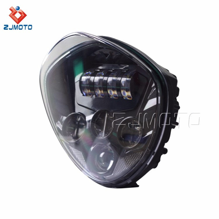 For 2007-2016 Cruisers with Bullet Style Headlight motorcycle led lights daytime running light for harley headlight