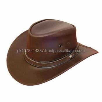 8920ed91b93 2015 Leather Cowboy Leather Cowboy Western Aussie Style Bush Hat ...