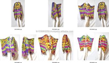 a0c6678b8a4d vintage retro HIPPIE BOHO Tie dye festival music beach fringe shirt tunic  tent kaftan cover up