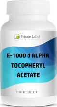 GMPc Nutritional Supplement d-Alpha Tocopheryl Acetate 1000IU Capsules Natural Vitamin E