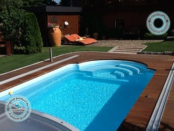 Polyester Swimming Pool,Fibreglass Swimming Pool Helios 7,50x3,25x1,55 M By  Poolsfactory Group - Buy Prefabricated Swimming Pools,Polyester Swimming ...