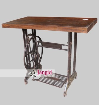 Antique Sewing Machine Base Converted Table / Vintage Reproduction  Furniture   Buy Used Sewing Machine Tables,Industrial Sewing Machine  Table,Antique ...