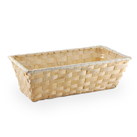 Very cheap bamboo gift basket, natural color.