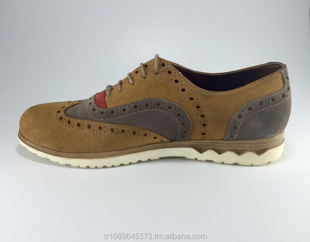 Brogue Oxford Shoe amp; 100 Handmade Suede Genuine XYnWFBqxRF