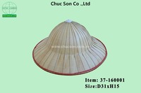 Round palm leaf hat natural color with code 37-160001